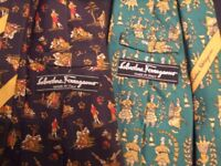 Set of 2 Vintage Ties Salvatore Ferragamo Made in Italy
