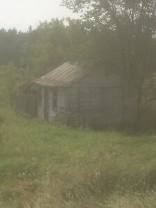 Old garage and shed