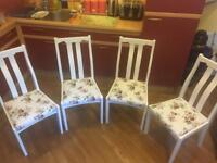 Set of four dining chair