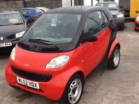 2002 SMART CAR FORTWO PURE 0.6 AUTO...... REQUIRES ATTENTION