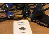 Video / S-Video / VGA to VGA Converter / Adapter