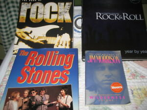 REDUCED! NICE SET OF ROCK AND ROLL HARDCOVER BIG BOOKS, ALL $10