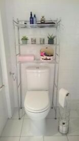 Toilet shelving unit