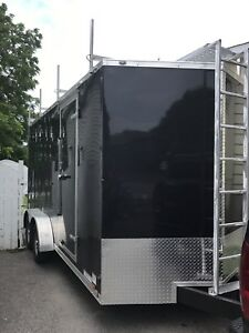 SPECIAL Trailer remorque 2018 7'x16' double essieux NEUF