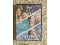 Three DVD collection - The Notebook/The Time Travellers Wife/My Sister's Keeper