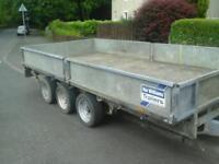Ifor williams tri aixl trailer 14x6.6 no vat