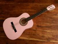 Falcon Beginner 3/4 Size Classical Guitar -Pink