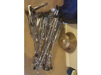 Set of 9 Cymbal Stands Boom Hi-Hat stand Hi-hats Crash Splash Pearl Premier Mapex Paiste Zildjian