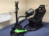 Racing simulator, gaming simulator, Thrustmaster T300rs, Aeon simulator