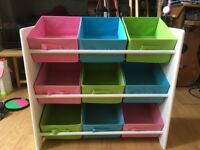 Home 3 Tier Childrens Basket Storage Unit: excellent conditions