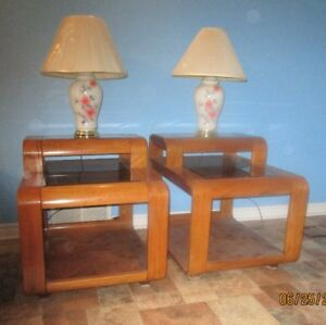 Two-tier coffee and end tables - PRICE REDUCED