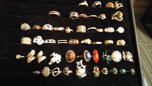 Silver rings reduced all 48 rings for 400.00 or ask