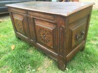 Antique Oak Coffer / Blanket Box 17th C