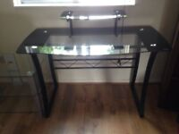 Glass with Black edging Desk