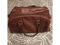 M&S Brown Leather Hold-all