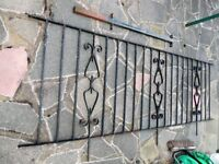 IRON FENCE RAILINGS. 13m approx total length with gate. Ideal for garden / patio.