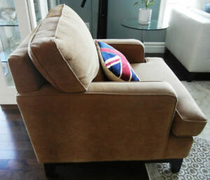 Brown Fabric Chair - Austin Taylor Furniture