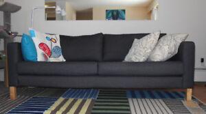 Modern Dark Grey Sofa