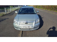 Toyota Avensis, 2003 53 plate, MOT - 1st June 2018, currently SORN