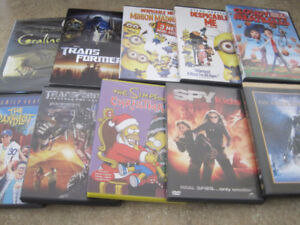 Despicable Me, Goonies, Polar Express etc. Family DVD's $1 each
