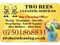 TWO BEES CLEANING SERVICES - weekly, fortnightly, deep/spring, end of tenancy cleaning