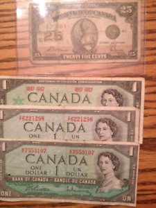 Small CAD Currency Collection