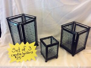 Set of 3 Candle Holders