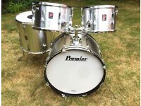 Drums - Vintage Premier 303 Drum Kit, 70's Silver Star, Mahogany Shells