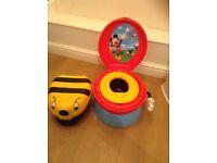 Mickey Mouse 1st toilet 3 in 1 celebration potty & NEW my carry potty