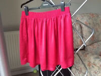 Pink Flared Skirt Size M