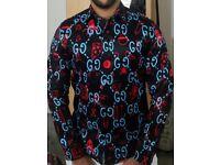 Gucci GG graffiti shirt for sale