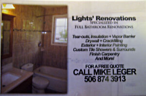 SPECIALIZED IN BATHROOM RENOVATIONS