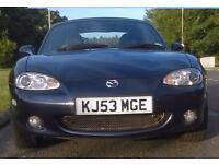 Mazda MX5 Blue 56000miles Excellent conditon