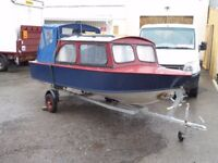 Custom Built 2 Berth Wooden River and Canal Cruiser with Trailer