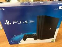 4K PS4 Pro 1TB console warranty and receipt