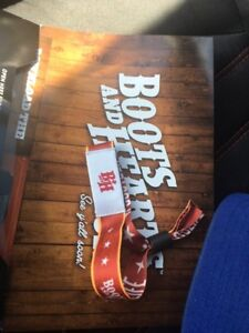 Boots and Hearts 4Day GA Unregistered wristband