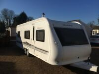Hobby Caravan 645 Vip Collection (2011) Twin Axle. Like Fendt/Tabbert