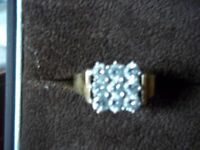 18CT GOLD DIAMOND RING SIZE Q