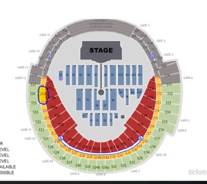 2 Coldplay tickets Toronto August 21 sect. 236