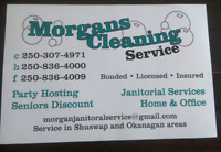 Morgans janitorial service Homes & office  & party hosting