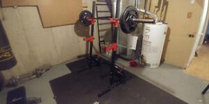 Squat rack et poids