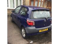 (X) TOYOTA YARIS 1.0VVTI 3 DOOR £375
