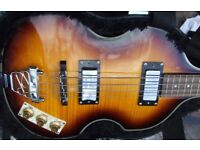 Like new: Beatle Bass in Hard case by Harley Benton. Very little use... so it's as new.