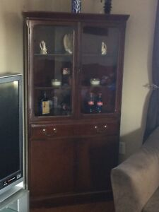 Cherry hard wood comer cabinet