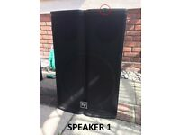 EV TX1181 Passive 18-inch Subwoofer (Pair) / Excellent Condition / Minor Chip on 1 Speaker (Shown)