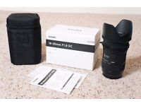 Sigma 18-35mm F1.8 (Canon Fit) Mint Condition