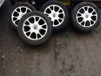 set of 4 ford galaxy Mondeo 1999 alloy wheels and tyres 5 stud 215 55 zr 16