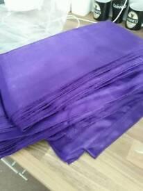 Purple satin sashes x 31