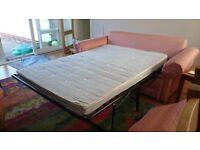 Sofa Bed, Mattress 195 x 130 x 10 cms