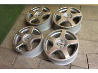"""Refurbished Genuine FORD Focus RS MK1 18"""" OZ Alloy wheels 4x108 Silver Alloys Fiesta"""